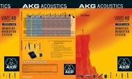 Prospekt WMS 40 + microtools - AKG