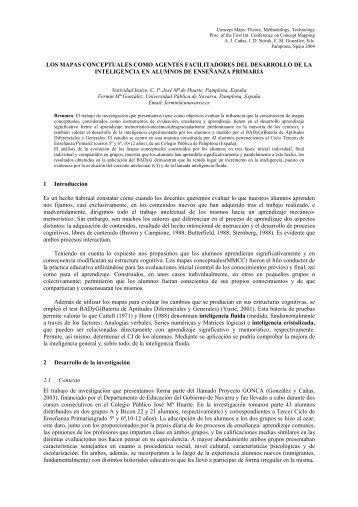 LOS MAPAS CONCEPTUALES COMO AGENTES FACILITADORES ...