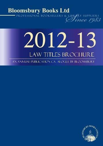 Law Titles Brochure 2012-13 - Bloomsbury Books Ltd