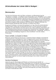 Stuttgart - Landesarbeitsgemeinschaft Darstellendes Spiel Berlin