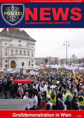 Polizei News 1_2014 Salzburg Klubmagazin der Exekutive - FSG