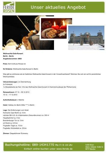 Weihnachts-Gala-Konzert - Eventreisen - Trierischer Volksfreund