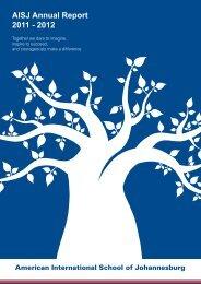 AISJ Annual Report 2011 - 2012 - American International School of ...