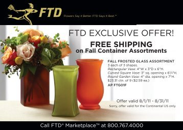 FTD EXCLUSIVE OFFER! - FTD, Inc.