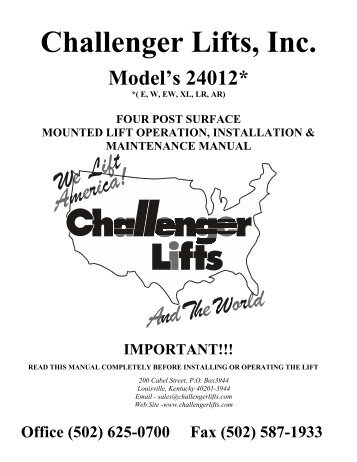 Challenger Lifts, Inc - NY Tech Supply