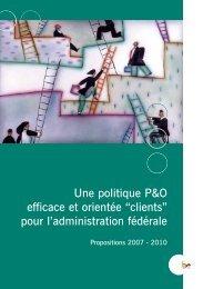 """Une politique P&O efficace et orientée """"clients"""" pour l ... - Fedweb"""