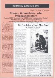 Historische Tatsachen - Nr. 01 - Udo Walendy - Kriegs-, Verbrechens