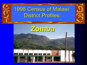 1998 Census of Malawi District Profiles: Zomba - Measure DHS