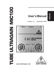 User's Manual - American Musical Supply