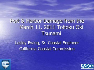 Port and Harbor Damage from the March 11, 2011 Tohoku Oki ...