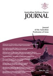 ISSUE 176 : Jul/Aug - 2008 - Australian Defence Force Journal