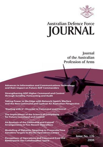 ISSUE 176 : Jul/Aug - 2008 - Australian Defence Force Journal