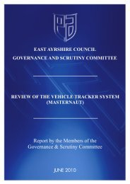 review of the vehicle tracker system - East Ayrshire Council