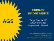 Incontinence Module - American Geriatrics Society