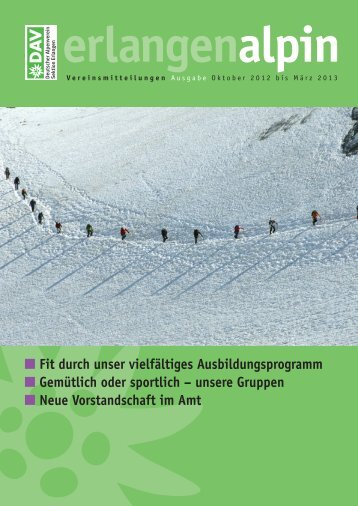 erlangenalpin Winter 2012/2013 - Alpenverein Sektion Erlangen