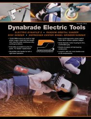 Dynabrade Electric Tools - Dynabrade Inc.