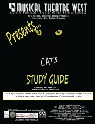 CATS Study Guide - Musical Theatre West