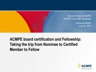 to download the ACMPE Certification presentation - Clarksville ...