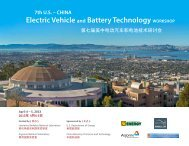 7th US – CHINA Electric Vehicle and Battery Technology WORKSHOP