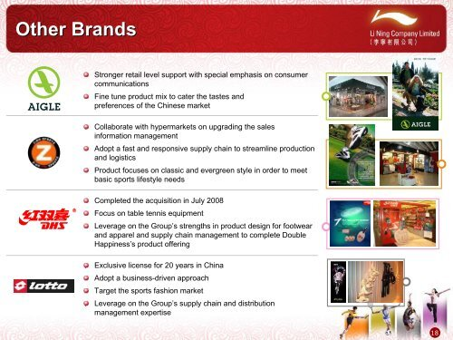 2008 Annual Results Corporate Presentation - Li Ning