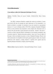O jornalismo radical de Raimundo Rodrigues Pereira