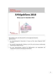 Erfolgsbilanz 2010 - Sparkasse Lörrach-Rheinfelden