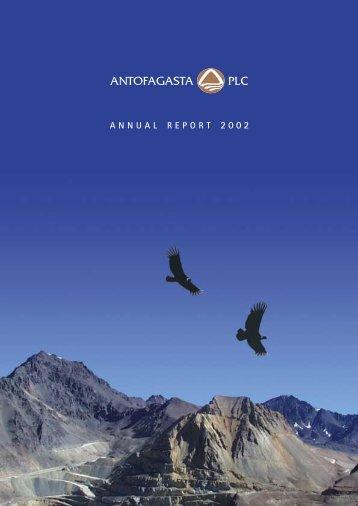 Annual Report 2002 in PDF - Antofagasta plc
