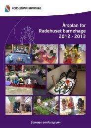 Årsplan Radehuset 2012-13 - Porsgrunn Kommune