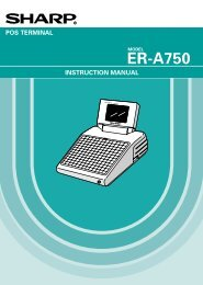 Sharp ER-A750 epos terminal - A&K Cash Registers