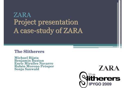 Project presentation A case-study of ZARA Project ... - UPV