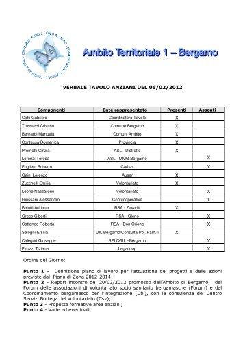 Verbale Tavolo Anziani del 19 Marzo 2012 - Ambito Territoriale 1