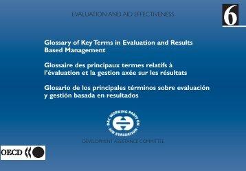 Glosario - Organisation for Economic Co-operation and Development