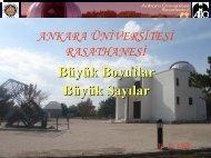 Astronomik Sayilar Astronomik Uzakliklar - Ankara Üniversitesi ...