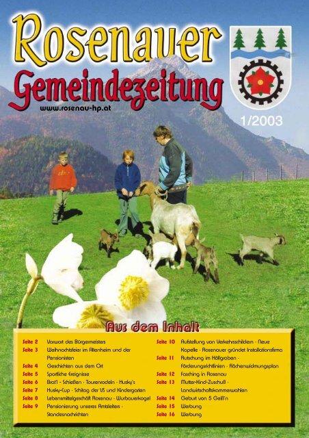 Datei herunterladen - .PDF - Rosenau am Hengstpaß - Land ...