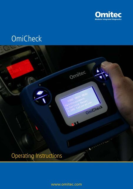 Scan Tool Operating Instructions - AK Automotive Training