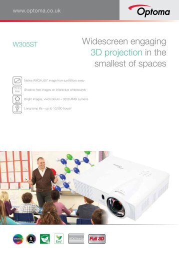 Widescreen engaging 3D projection in the smallest of ... - Crambo
