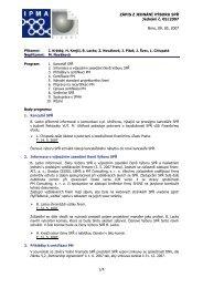 Zápis z jednání výboru č. 5 ze dne 09.05.2007 - IPMA