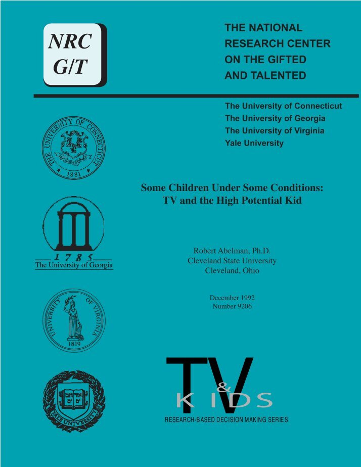 gifted and talented research paper