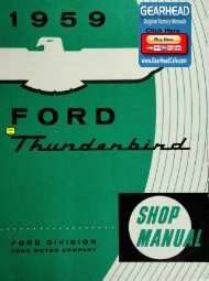 DEMO - 1959 Ford Thunderbird Shop Manual - ForelPublishing.com