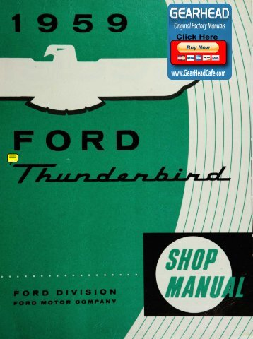 DEMO - 1959 Ford Thunderbird Shop Manual - ForelPublishing.com