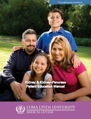 Kidney Transplant - Loma Linda University Medical Center