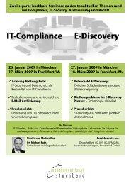 IT-Compliance E-Discovery - LUTHER Rechtsanwaltsgesellschaft ...