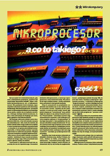 Mikroprocesor - a co to takiego? cz. 1 - Elportal