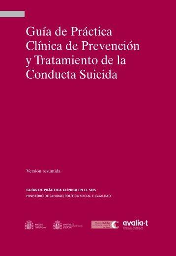 GPC de la conducta suicida - GuíaSalud