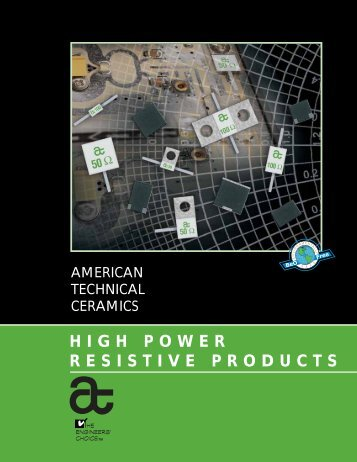 HIGH POWER RESISTIVE PRODUCTS - Richardson RFPD