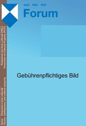 KGS Forum 5/04: Erdbeben und Kulturgüter - Planat