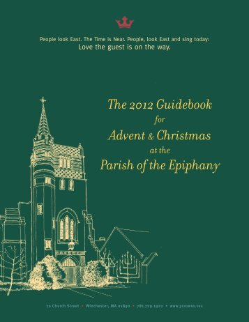 The 2012 Guidebook Advent & Christmas Parish of the Epiphany