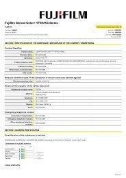 FUJIFILM SERICOL COLOR\+ YT/IH/KG SERIES - FUJIFILM Australia