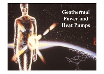 Geothermal Power and Heat Pumps