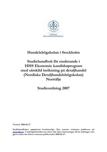 Bilaga 2 - Handelshögskolan i Stockholm